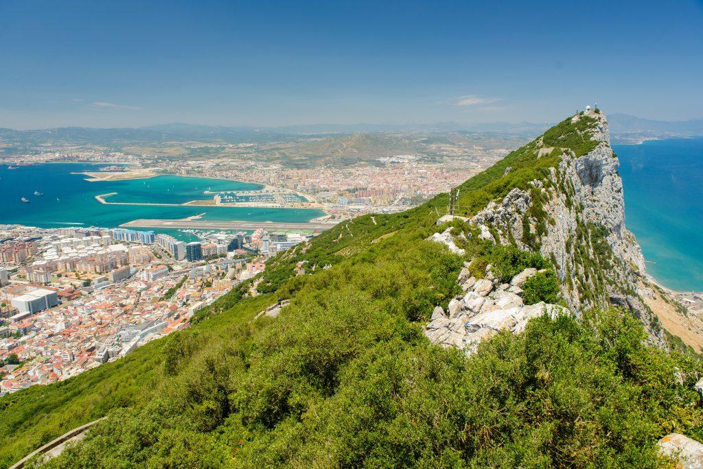 Gibraltar Berg und Stadt