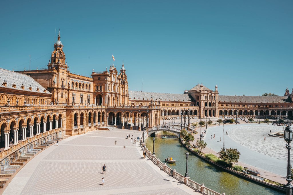 Plaza de Espana in Sevilla in Spanien